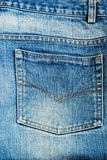 Blue jeans back pocket background texture Stock Image