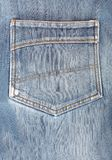 Blue jeans back pocket Royalty Free Stock Photos
