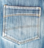 Blue jeans back pocket. casual style Royalty Free Stock Photo