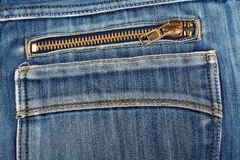 Blue jeans back pocket. casual style Royalty Free Stock Photography