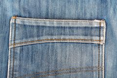 Blue jeans back pocket. casual style Stock Photos