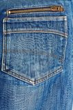 Blue jeans back pocket. casual style Royalty Free Stock Photos