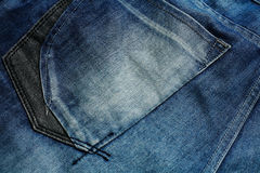Blue jeans back pocket Royalty Free Stock Photo