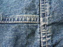 Blue jeans background. Trousers detail royalty free stock photos