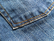 Blue jeans background Royalty Free Stock Photography