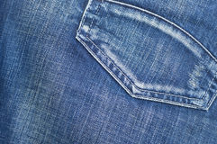 Blue Jeans Background. Close up Royalty Free Stock Photos