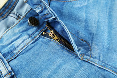 Blue jeans background, close up Stock Image