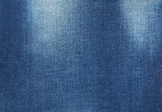 Blue jeans background, close up. Royalty Free Stock Photography