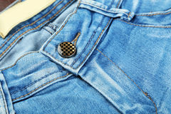 Blue jeans background, close up Stock Images