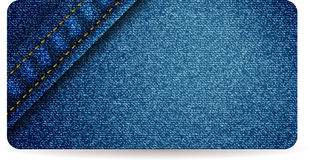 Blue jeans banner Stock Image