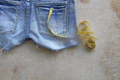Blue Jeans-Beschaffenheits-Hintergrund Stockbild