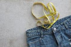 Blue Jeans-Beschaffenheits-Hintergrund Stockfotos