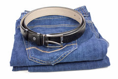 Blue jeans and black Royalty Free Stock Image