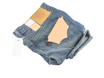 Blue jeans. The blue jeans body parts Stock Photo