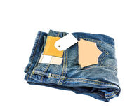 Blue jeans. The blue jeans body parts Royalty Free Stock Photos