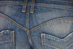 Blue jeans  on buttocks Stock Photo
