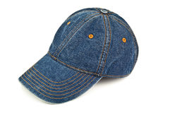 Blue jeans cap Stock Images