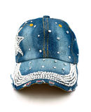 Blue jeans cap   Royalty Free Stock Photography