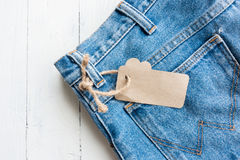 Blue jeans. Close up blue thouser jeans isolated on white stock photos