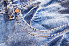 Blue jeans closeup Royalty Free Stock Images