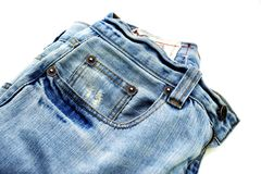 Blue Jeans Closeup Stock Photos