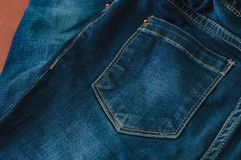Blue jeans closeup Stock Photography