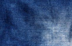 Blue jeans cloth texture. Stock Photos
