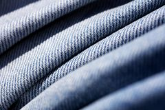 Blue jeans clothing fibers extreme macro background fine art in high quality prints products 50,6 Megapixels.  stock photography