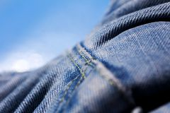 Blue jeans clothing fibers extreme macro background fine art in high quality prints products 50,6 Megapixels.  stock photos