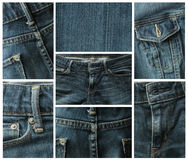 Blue jeans collage Royalty Free Stock Photography