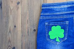Concept irish party outfit, present for St.Patrick `s Day stock photography