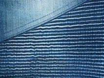 Blue Jeans-Denim Lizenzfreie Stockfotografie