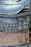 Blue Jeans Denim background texture.  Royalty Free Stock Image