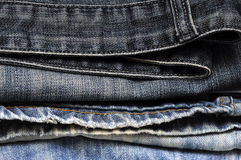 Blue Jeans Denim background texture.  Royalty Free Stock Photography