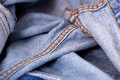Blue jeans denim Royalty Free Stock Photos
