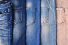 Blue jeans denim fabric Royalty Free Stock Image