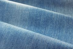 Denim Blue Jeans Material Stock Photo Image Of Stitches