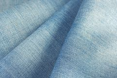Blue jeans denim fabric Stock Images