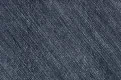 Blue jeans denim fabric texture (diagonal) Stock Photo