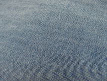 Blue jeans denim fabric Royalty Free Stock Photos