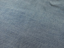 Blue jeans denim fabric Stock Photography