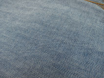 Blue jeans denim fabric Royalty Free Stock Images