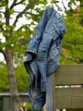 Blue jeans denim jacket Royalty Free Stock Photos