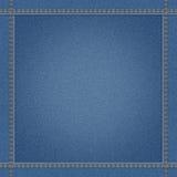 Blue jeans denim textile texture Royalty Free Stock Photography