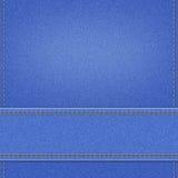 Blue jeans denim textile texture Royalty Free Stock Photos