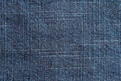 Blue jeans denim texture Royalty Free Stock Photos