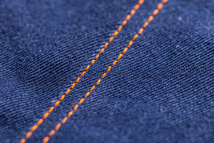 Blue jeans denim texture Royalty Free Stock Image