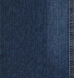 Blue jeans denim texture. Real blue jeans denim texture, background with stitch Stock Image