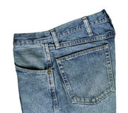 Blue Jeans Detail. Blue jaean textures and design royalty free stock images