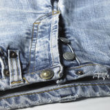 Blue jeans detail Royalty Free Stock Photography